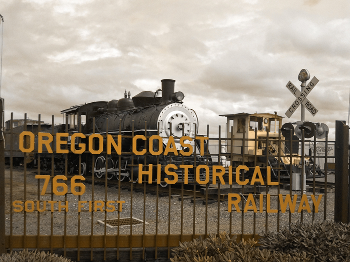 coastal railroad, oregon