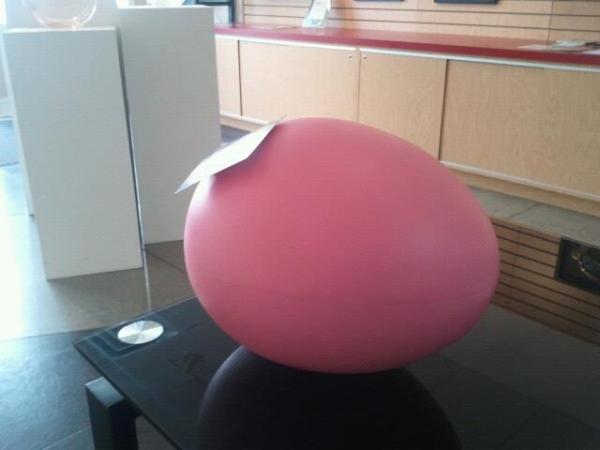 plain pink egg