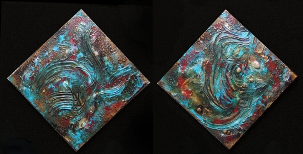 finished work, turquoise topography © lynne medsker