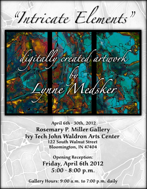 """Intricate Elements"" at Ivy Tech John Waldron Art Center, April 2012"