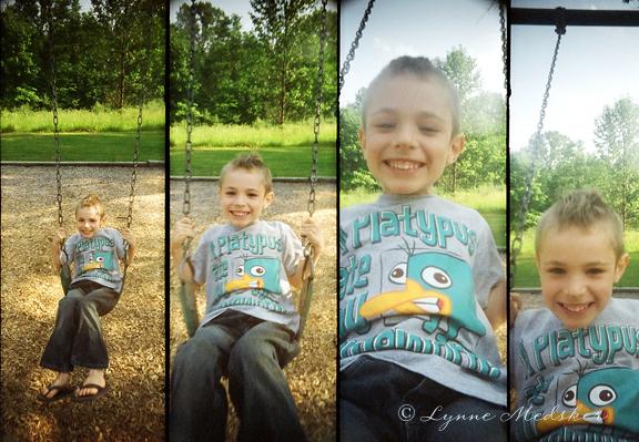 swinging, front view © lynne medsker