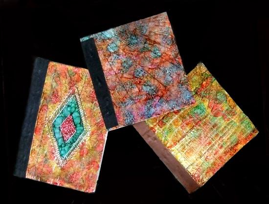 finished journals, back side
