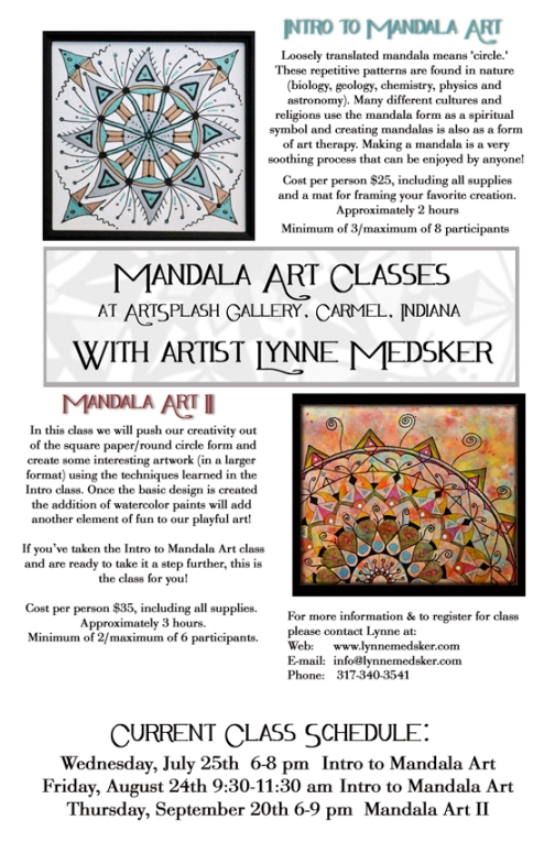 mandala class flyer with dates