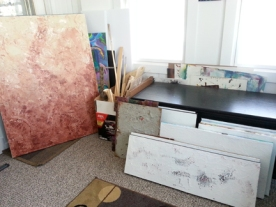 prepped canvases, ready for creativity