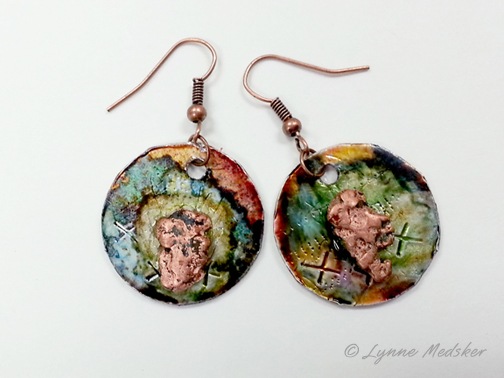 aluminum covered shipping envelope material with copper nuggets attached, $15 © Lynne Medsker