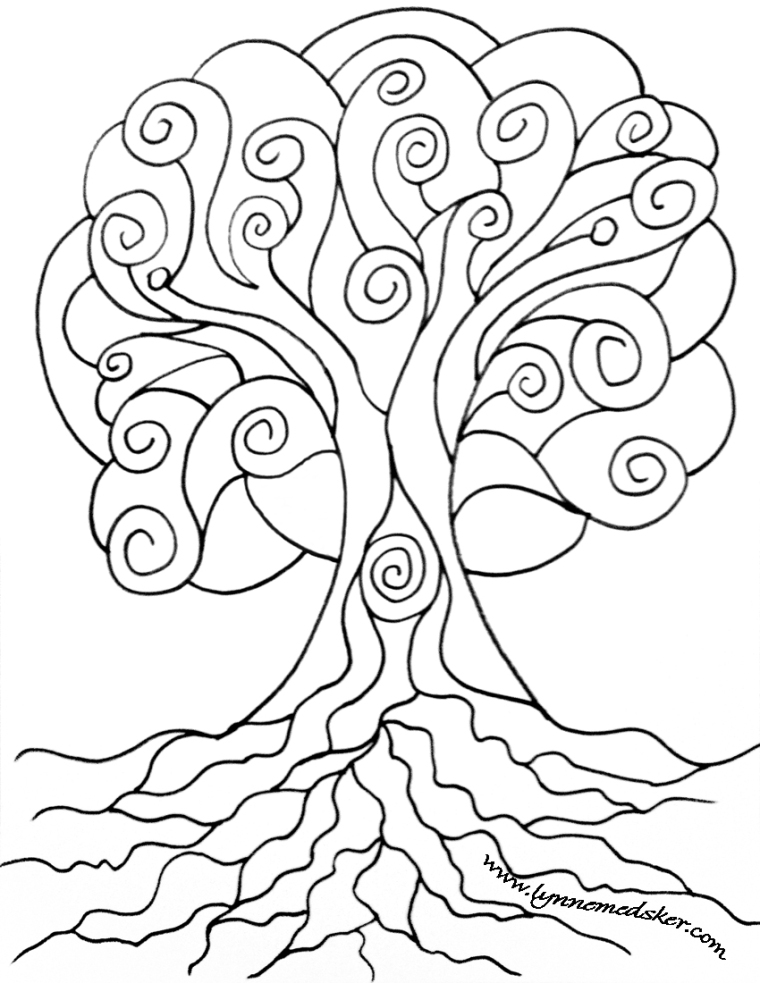 """""""Spiral Tree"""" - how will you get creative with it? Click image for full size downloadable file!"""