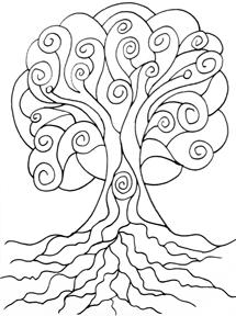web sprial tree by lynne medsker