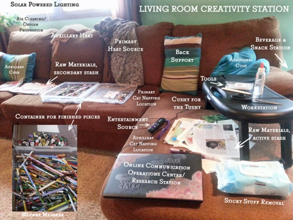 web living room creativity station