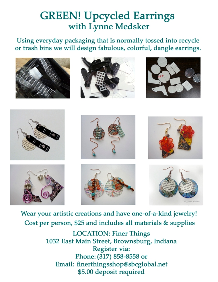 web Studio flyer for Finer Things, earrings
