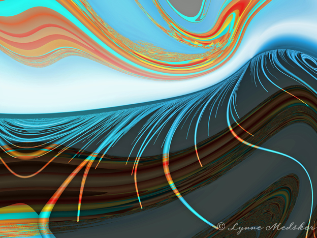 """Adobe"" digital/fractal art © 2013, Lynne Medsker"