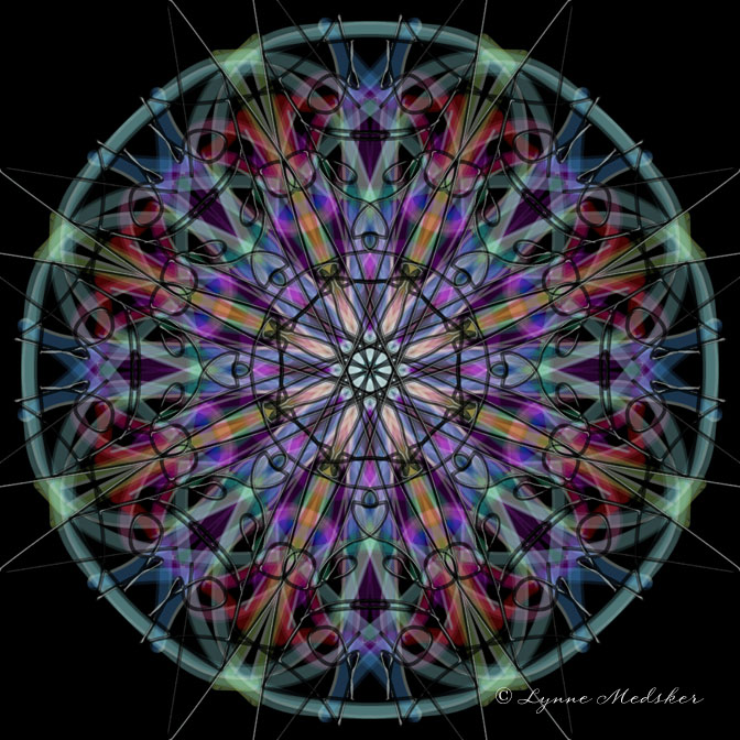 Kaleidoscope 2013-2, digital art © Lynne Medsker