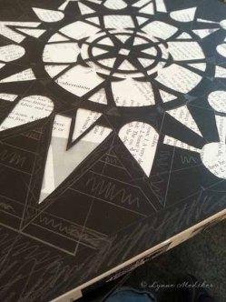 Pencil design, paper cutting