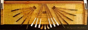 """""""Calando"""" mixed media on wood, 55x16"""", $995 © Lynne Medsker"""