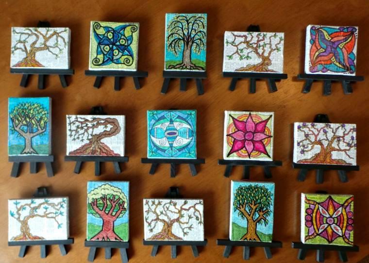 Tiny Canvases, Tiny Easels © Lynne Medsker