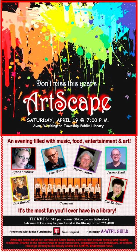ArtScape flyer, Avon Library