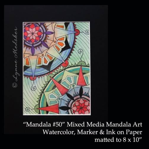 Stock 2011-09 mandala 50, 5x7, matted, $45