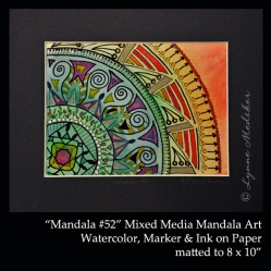 Stock 2011-09 mandala 52, 5x7, matted, $45