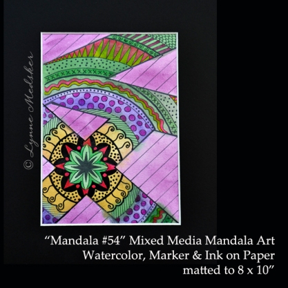 Stock 2011-09 mandala 54, 5x7, matted, $45