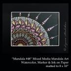 STOCK mandala, 2011-07, mandala 48, 5x7 matted
