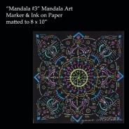 Stock, matted to 8x10 2009-07 Mandala3