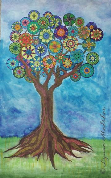 Mixed Media (Marker, watercolor, Ink) on Paper © Lynne Medsker