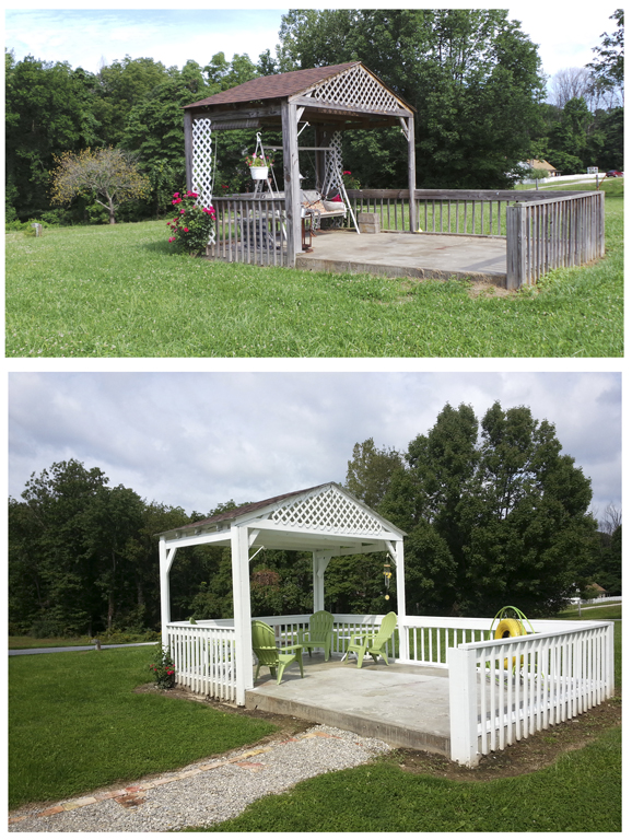 blog Gazebo, before and after