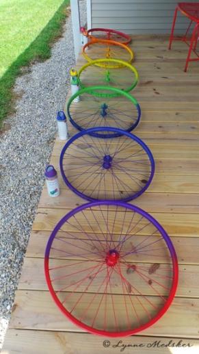 Freshly painting wheels