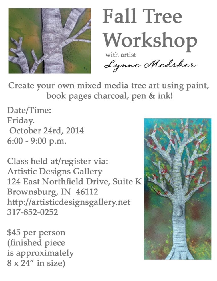 artistic, fall tree workshop