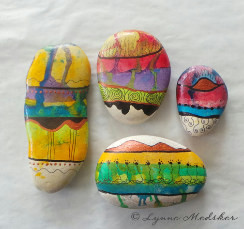 blog, watercolor stones © Lynne Medsker
