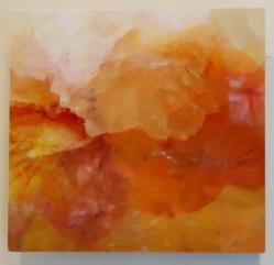 """Digital art printed on aluminum panel. """"Momma's Flowers/Poppa's Rocks"""" 8x8"""" $95 value"""