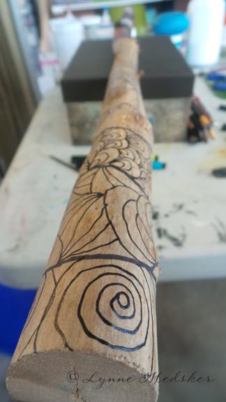 Totem, WIP, image 1 (c) Lynne Medsker