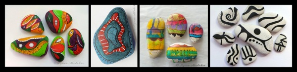 Class for TWO - Painted Stones. Value $60 © Lynne Medsker Art & Photography, LLC