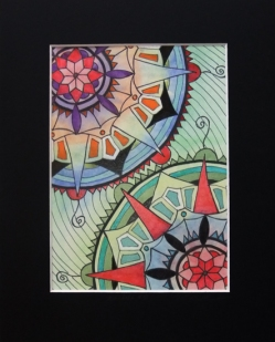 "Mandala #50, matted to fit in an 8x10"" frame, © Lynne Medsker Art & Photography, LLC"