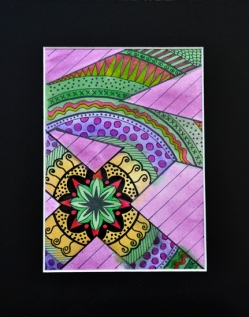 "Mandala #54, matted to fit in an 8x10"" frame, © Lynne Medsker Art & Photography, LLC"