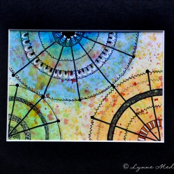 "Mandala #87, matted to fit in an 8x10"" frame, © Lynne Medsker Art & Photography, LLC"