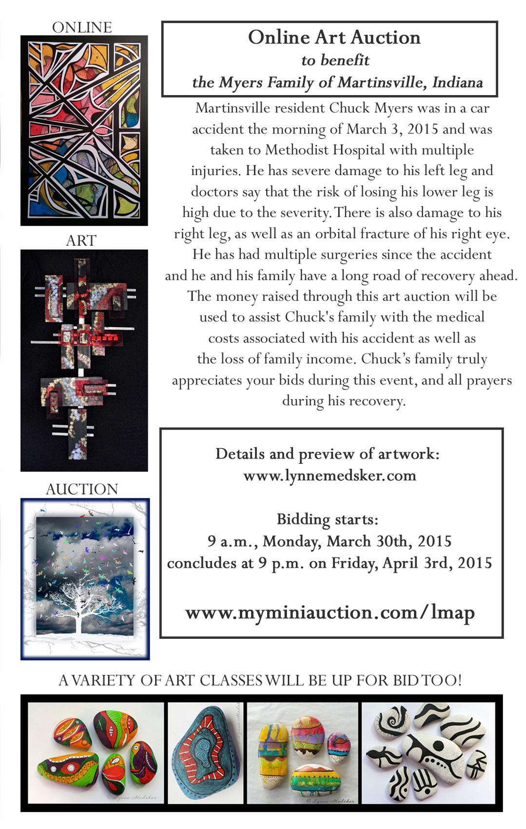 flyer, single, charity auction by Lynne Medsker