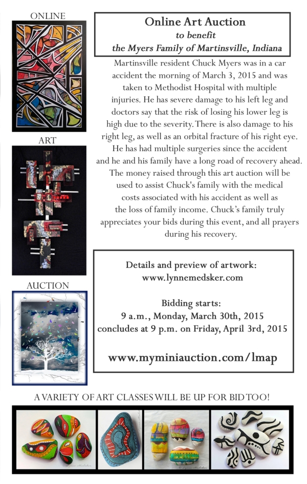 flyer, single, charity auction by Lynne Medsker