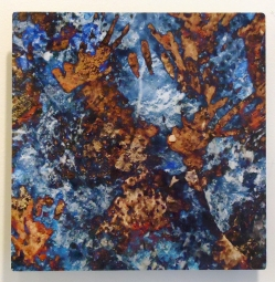 """Digital art printed on aluminum panel. """"Texture Art #8"""" 8x8"""" $95 value"""