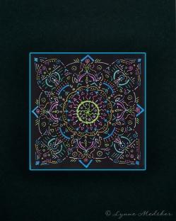 "Mandala #3, matted to fit in an 8x10"" frame, © Lynne Medsker Art & Photography, LLC"