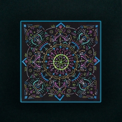 "Mandala #3, matted to fit in an 8x10"" frame, © Lynne Medsker Art & Photography, LLC"