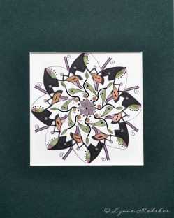 "Mandala #80, matted to fit in an 8x10"" frame, © Lynne Medsker Art & Photography, LLC"