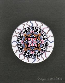 "Mandala #82, matted to fit in an 8x10"" frame, © Lynne Medsker Art & Photography, LLC"