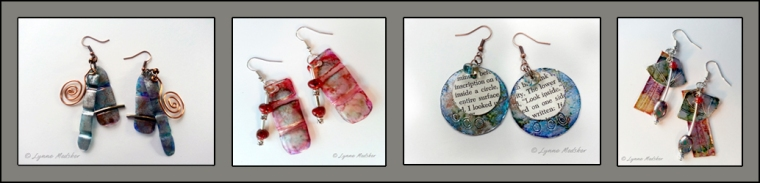 Class for TWO - Upcycled Earrings a $50 value © Lynne Medsker
