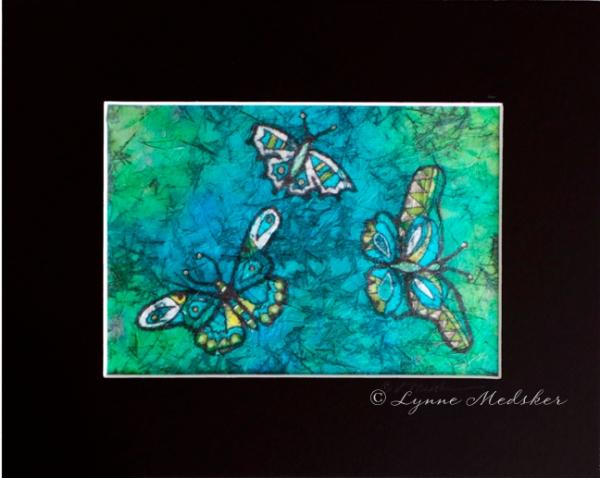 blog batik blue butterflies © Lynne Medsker