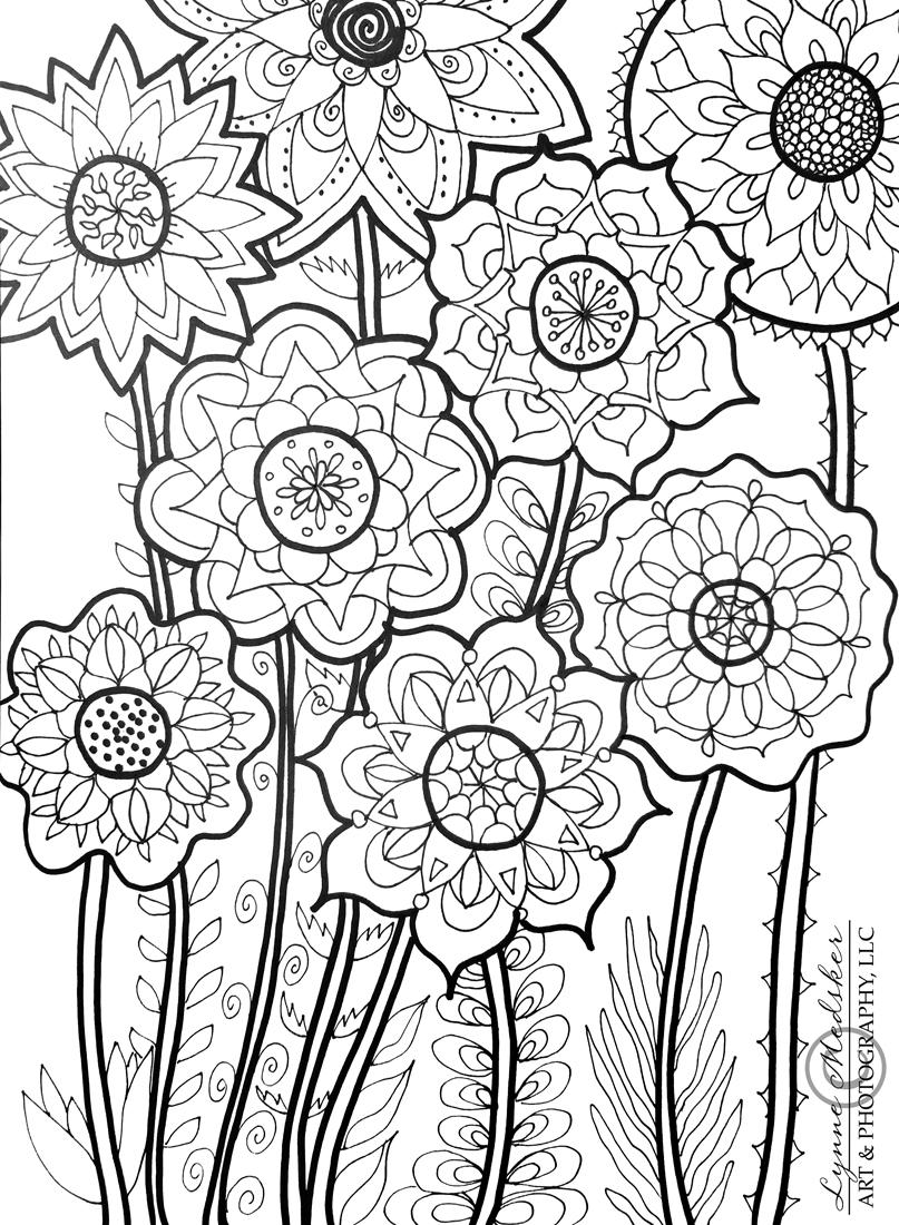 email flower mandala